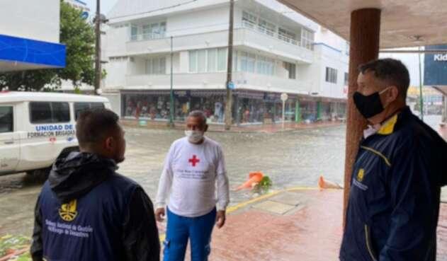 San Andrés inundado por huracán Iota