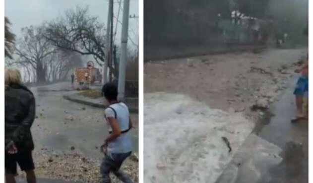 Estragos de huracán Iota en San Andrés