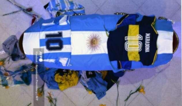 Féretro Diego Maradona