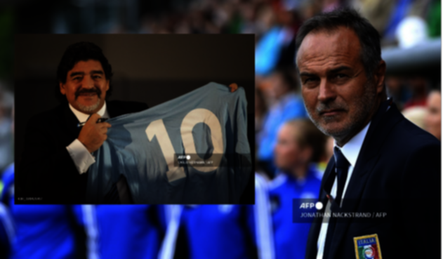 Cabrini y Diego Maradona