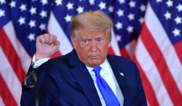 Donald Trump celebra en elecciones 2020