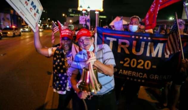 Celebran en Florida victoria de Trump en elecciones de EE.UU.