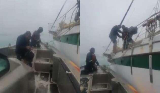 [Video] Ciudadano italiano fue rescatado tras el paso del Huracán Iota en San Andrés