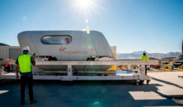 Virgin hyperloop en Dubai
