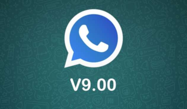 Logo azul de WhatsApp Plus