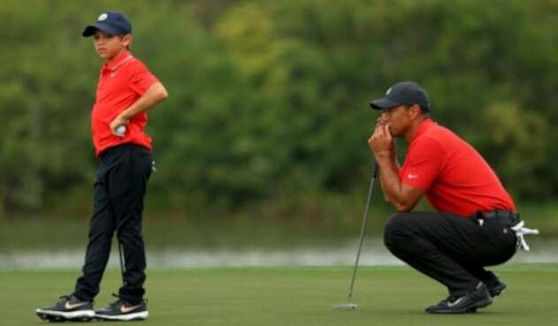 Tiger Woods y Charlie Woods