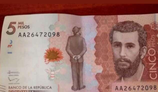 billete de 5 mil pesos