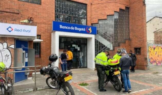 Entidad bancaria hurtada en Teusaquillo, en Bogotá.