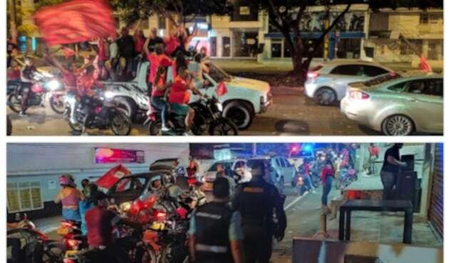Hinchas de América de Cali celebran estrella 15 en las calles pese a la pandemia
