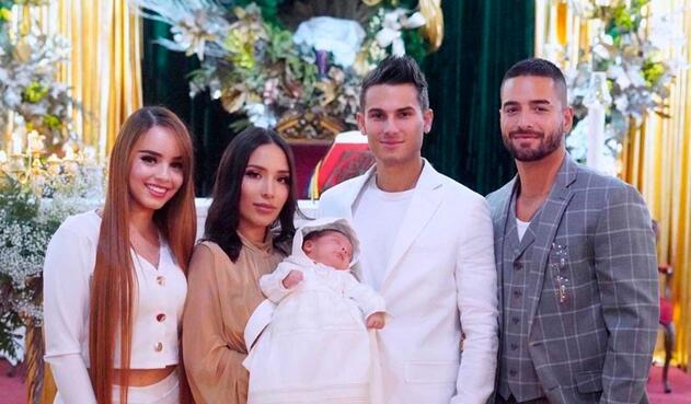 Bautizo de Maximo, hijo de Luisa Fernanda W y Pipe Bueno