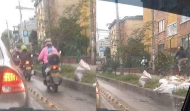 Motociclistas andan por ciclorutas y ciclistas por los andenes en Bogotá