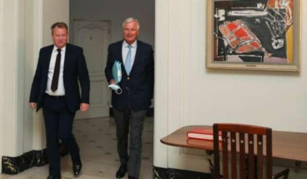 David Frost y Michel Barnier, negociadores de acuerdo pobrexit
