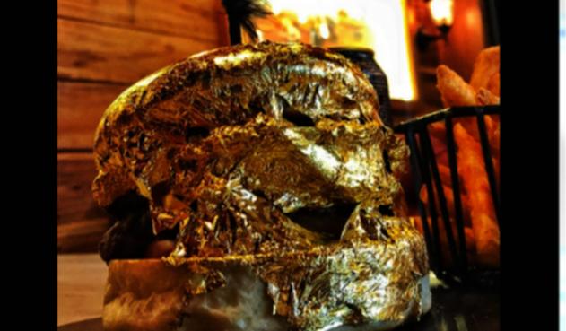 Hamburguesa de oro en Bucaramanga
