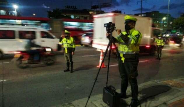Policía de Tránsito en Bogotá