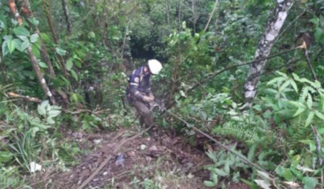 Caída de vehículo por un abismo en San Luis, Antioquia.
