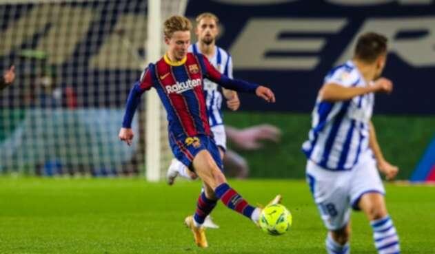 Barcelona Vs. Real Sociedad - Liga Española - Frenkie de Jong