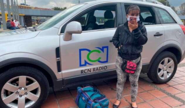 Genny Hoyos, madre soltera que busca empleo