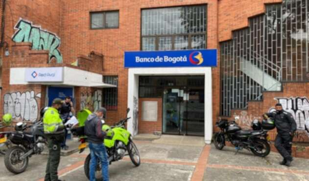 Robo en sucursal bancaria en Bogotá