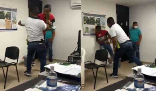 Polémica por la salvaje agresión de un policía a un ciudadano