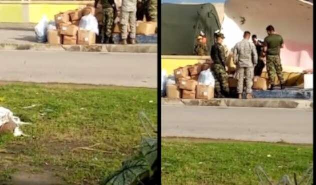 Soldados se estarían repartiendo ayudas de San Andrés