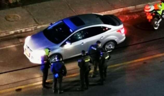 vehículo atacado a bala por sicarios en Cúcuta