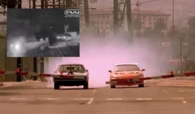 Tres casi choca vehículos al estilo Rápidos y Furiosos