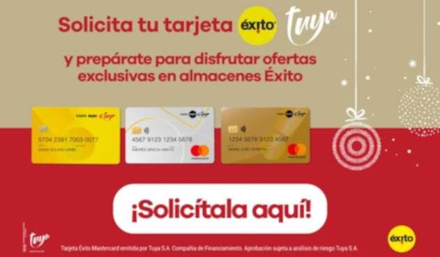 Llega la Navidad llena de felicidad. Prepárate con Tarjeta Éxito Tuya y TuyaPay y conviértelas en tus aliadas para cumplir tus sueños.