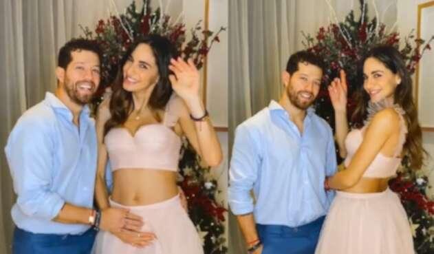 Valerie Domínguez y su novio, el Pollo Echeverry