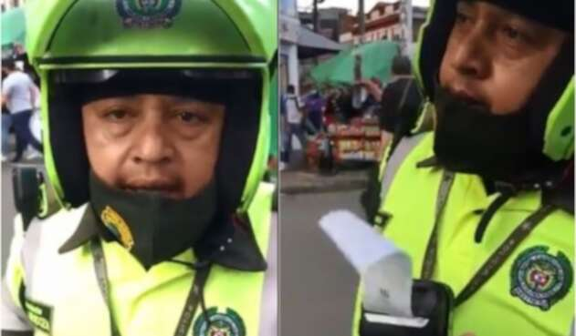 Video] Mujer que solicitó a policía ponerse el tapabocas recibe comparendo