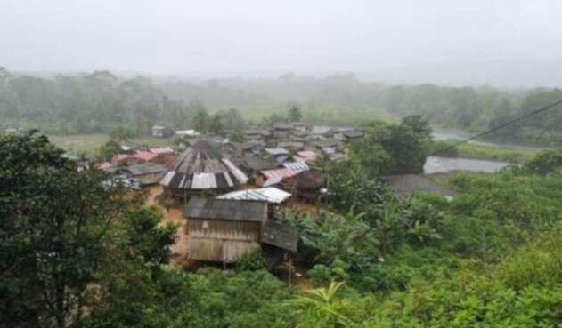 Lugar del desplazamiento en Bahía Solano, Chocó.