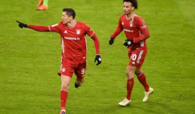 Robert Lewandowski - Leroy Sané - Bayern Munich