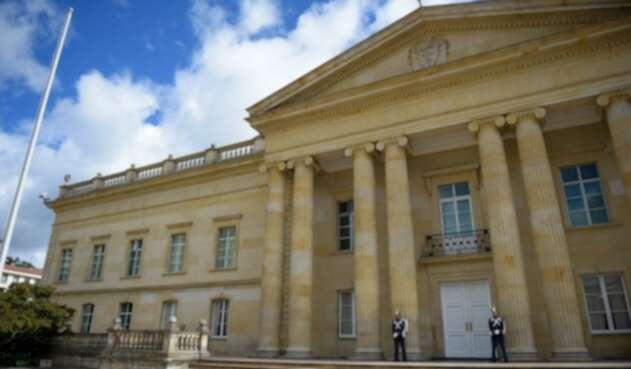 Fachada del palacio presidencial Casa de Nariño, en Bogotá.