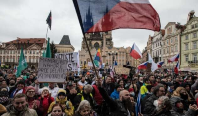 Manifestaciones en Praga