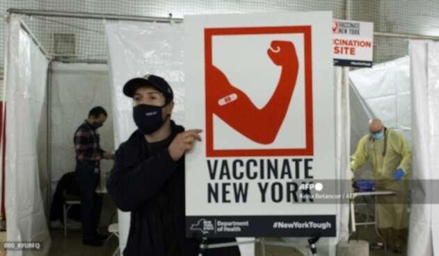 Vacunación contra el coronavirus en Nueva York