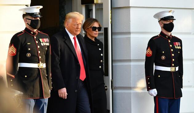 Salida de Donald Trump de la Casa Blanca