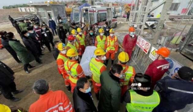 Mineros rescatados en China