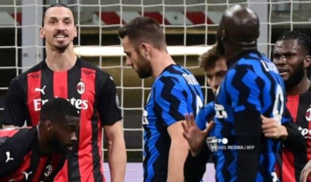 Zlatan Ibrahimovic y Romelu Lukaku - AC Milan Vs. Inter