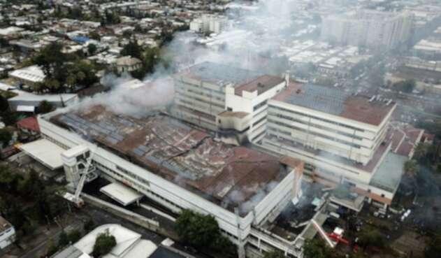 Incendio en hospital de Chile