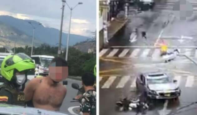 [Video] Motociclista y pasajero luchan por vivir: impactante accidente en Bello