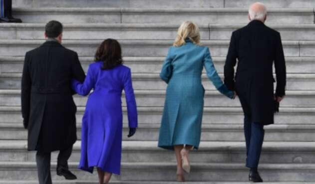 Joe Biden llega al Capitolio de EE.UU. para su posesión