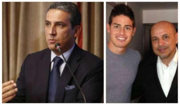 Fernando Jaramillo y padrastro de James