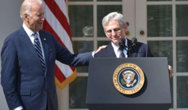 Joe Biden y Merrick Garland, quien será fiscal de EE.UU.