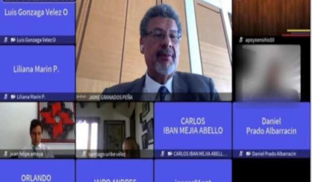 Audiencia virtual del juicio contra Santiago Uribe Vélez.