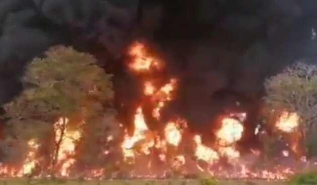 Explosión en Oleoducto Caño Limón Coveñas