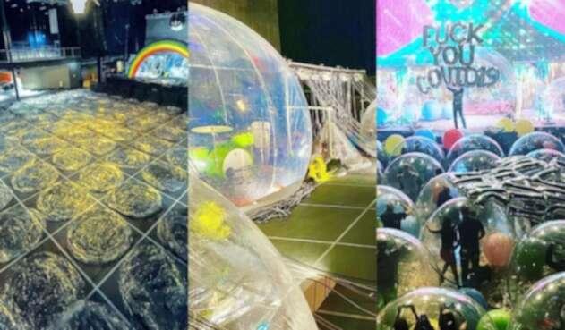 Concierto de Flaming Lips en burbujas
