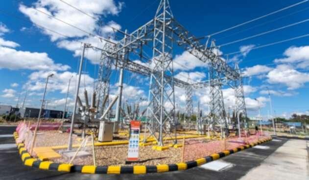 Subestación eléctrica Portugal.