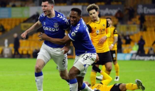 Everton Vs. Wolverhampton - Yerry Mina