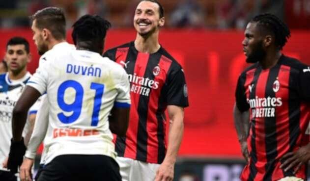 Zlatan Ibrahimovic y Duván Zapata