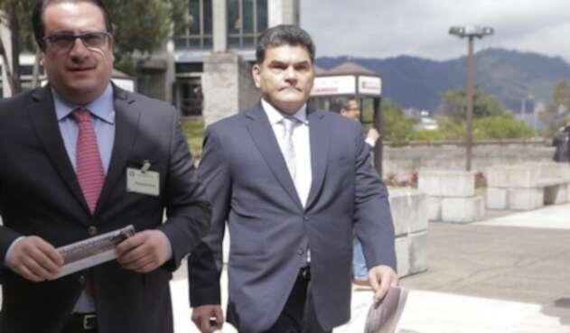 Gregorio Eljach llegando al bunker de la Fiscalía