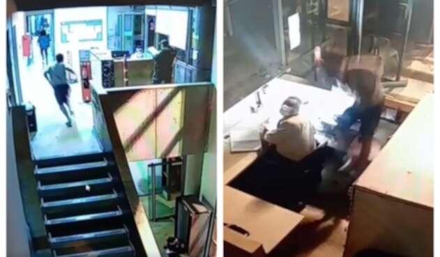 Hombre cae del segundo piso de bunker de la Fiscalía de Medellín